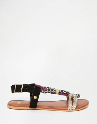 shoes rope shoes flat sandals african print sandals