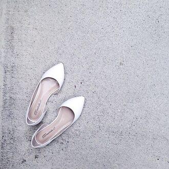 shoes zooshooz zooshoo zooshoo shoes white flats flats breckelles deon02 deon02white breckelles shoes