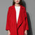 Mist Waterfall Drape Coat in Red - Retro, Indie and Unique Fashion