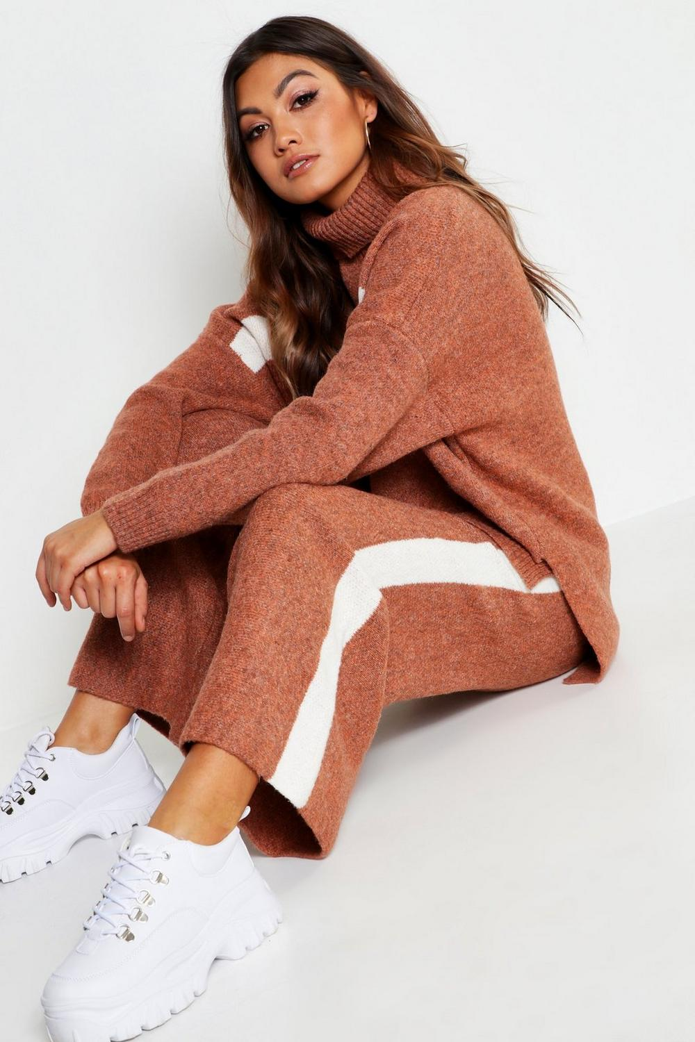 Premium Heavy Knitted Sports Athleisure Set | Boohoo
