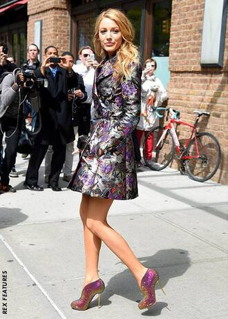 shoes blake lively high heels coat
