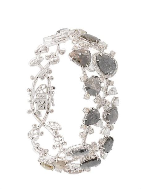 Saqqara women gold white grey metallic jewels