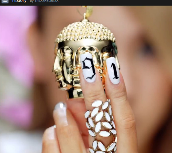 jewels ring white leaves cl kpop