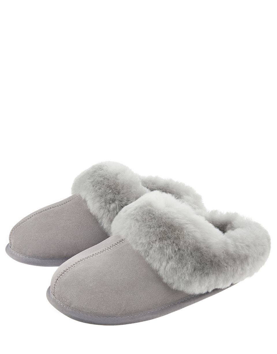 Olive Shearling Slipper