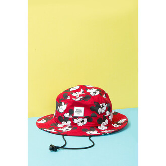 hat red mickey mouse bucket hat bag