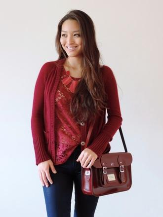 jewels cardigan blogger sensible stylista bag jeans crochet satchel bag