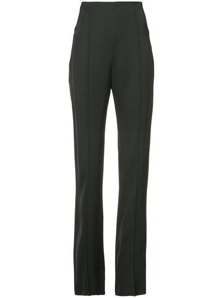 MATICEVSKI high waisted high women spandex black silk wool pants