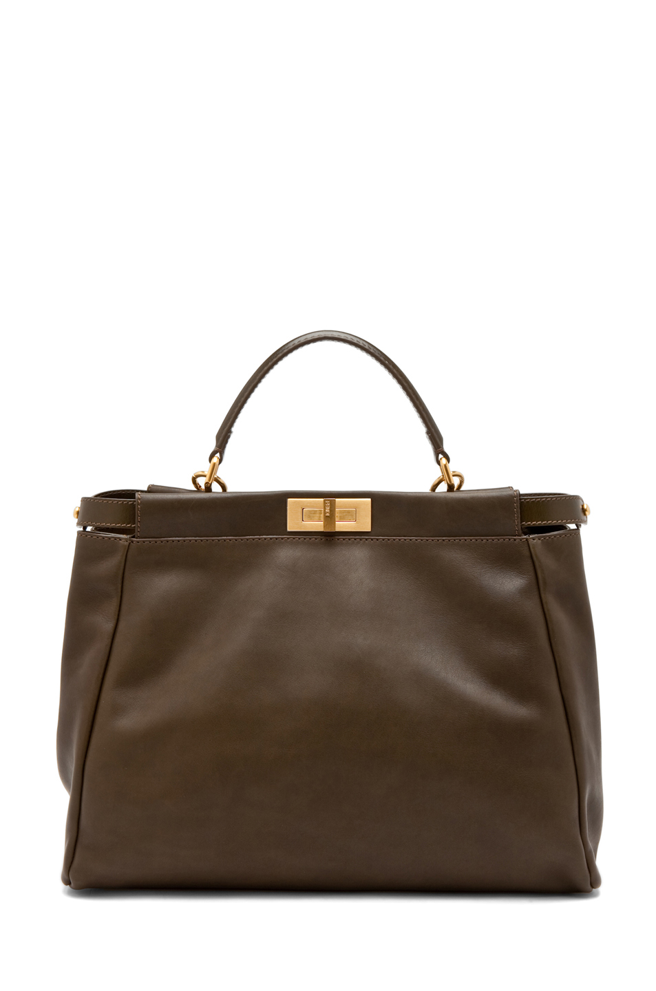 Fendi|Peekaboo Handbag in Olive