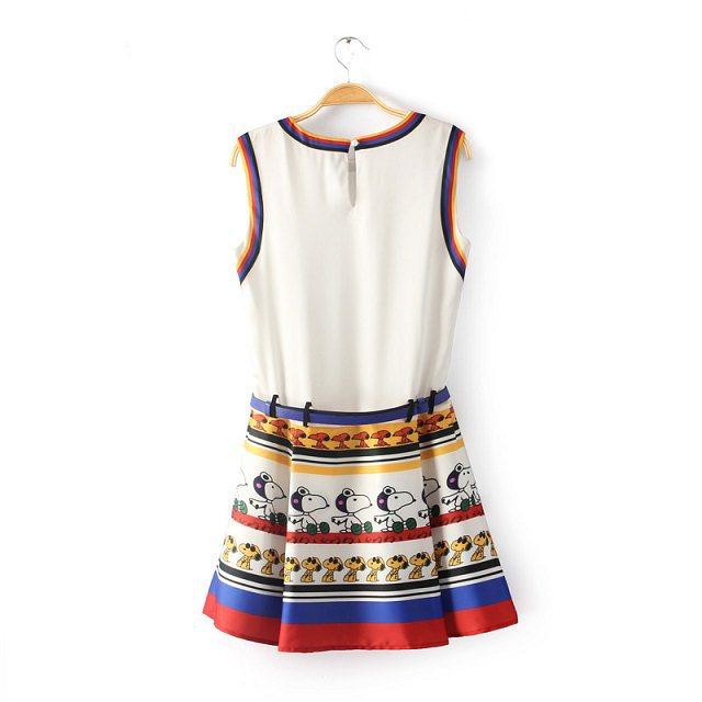 Fashoin Enchating Fashionable Dizzying Blending round neck Sleeveless Cartoon Fashion Dresses JC605-1 US$28.2