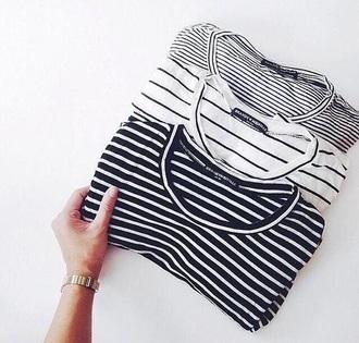 shirt black blue scratches white t-shirt marinière girls