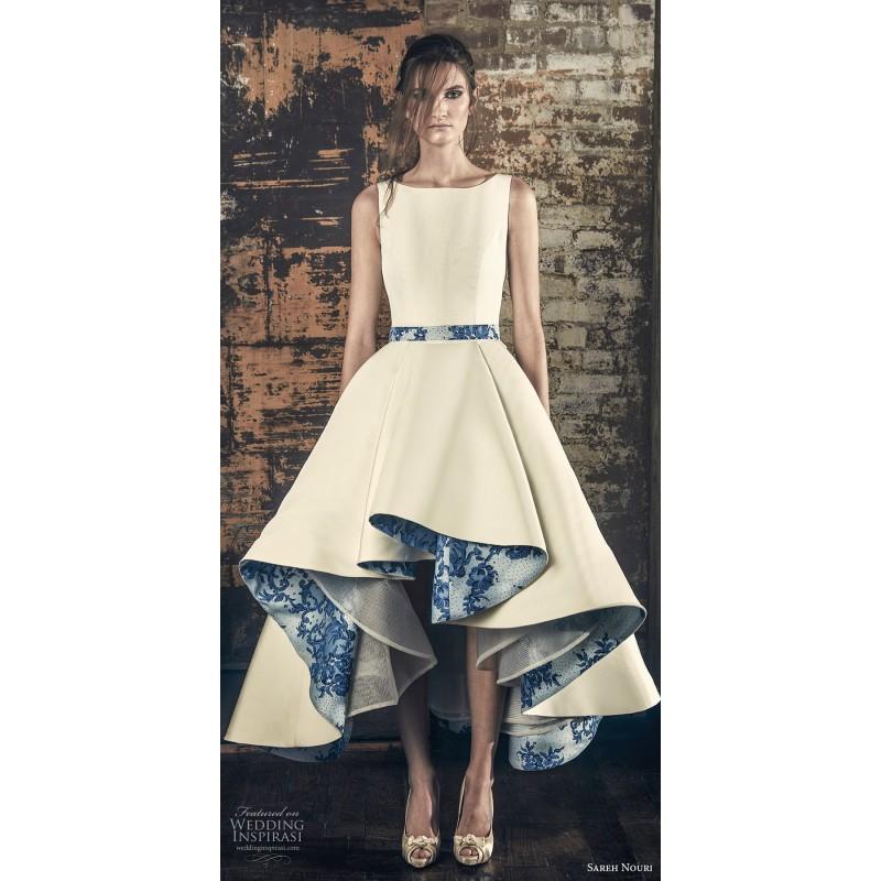Sareh Nouri Fall/Winter 2018 Esme Asymmetrical High Low Ball Gown ...