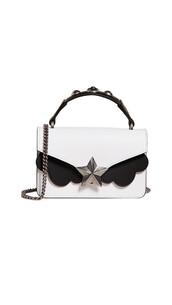 satchel,mini,bag,satchel bag,white,black