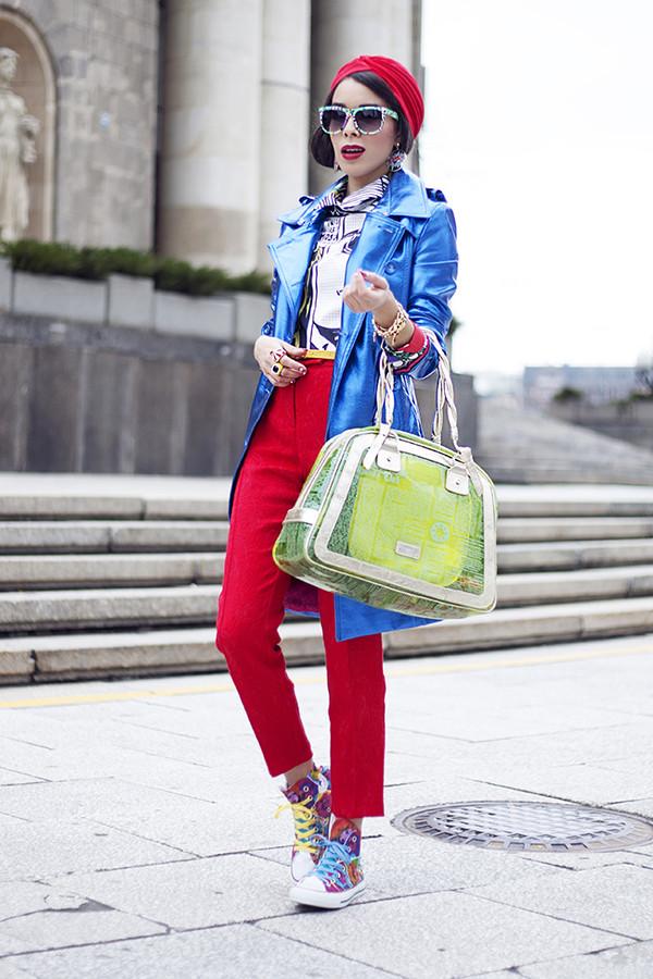 macademian girl coat shirt pants bag shoes jewels