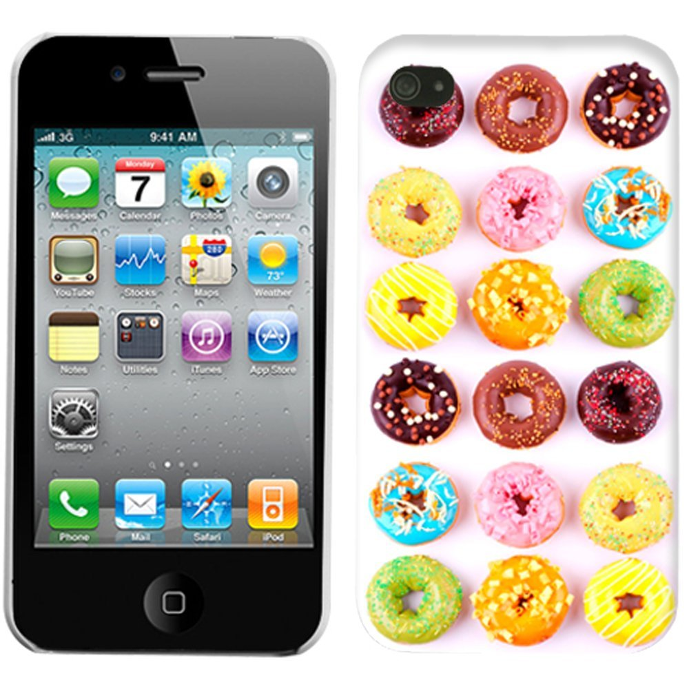 Amazon.com: apple iphone 4 mixed donut pattern phone case cover: cell phones & accessories