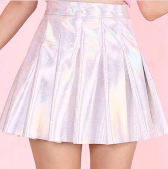skirt holographic holograph metallic sparkle glitter metallic skirt