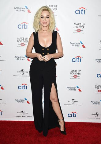 pants top grammys 2017 black black top katy perry pumps