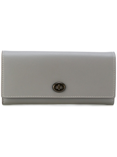 Coach - continental purse - women - Leather - One Size, Grey, Leather