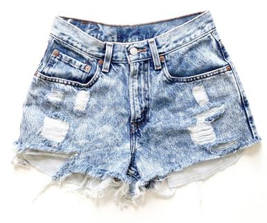Original 420 jagged hem shorts