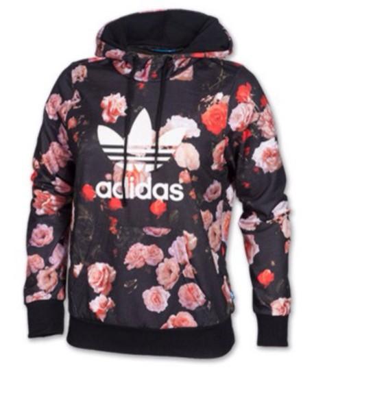 sweater adidas floral hoodie
