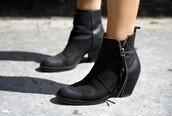 black shoes,black ankle boots,shoes