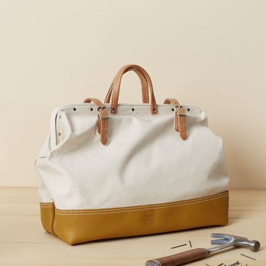 Heritage Leather Reinforced Mason Bag | west elm