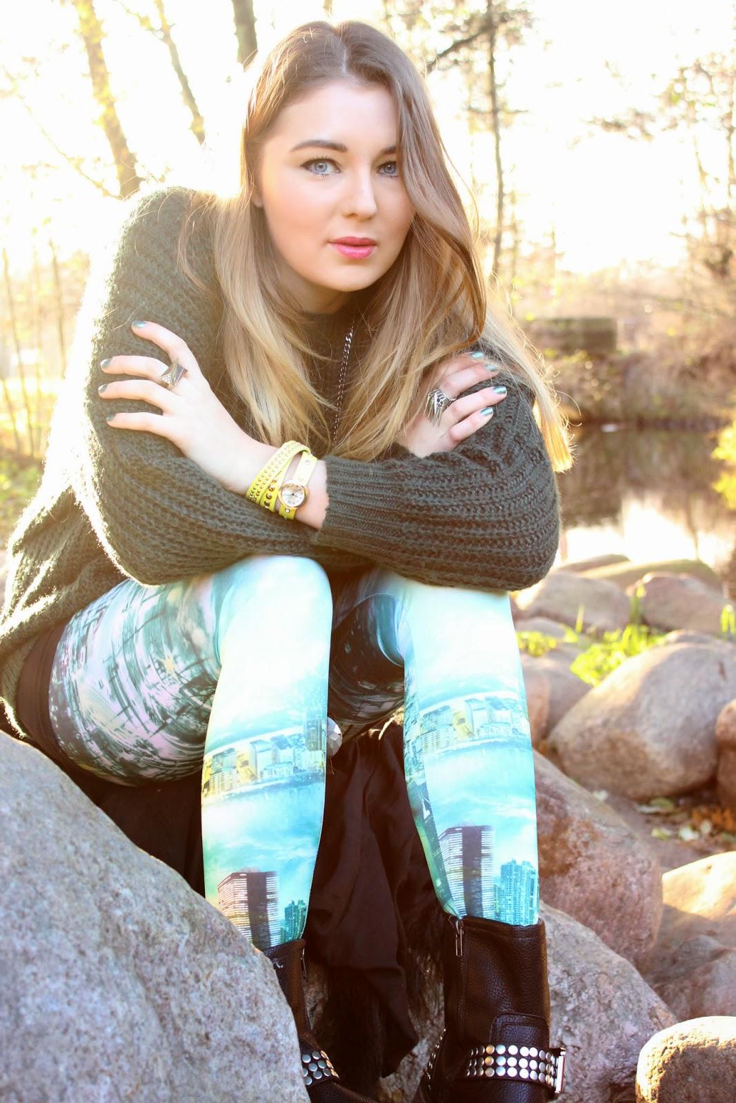 Dark Green Loose Knitted Jumper | Choies