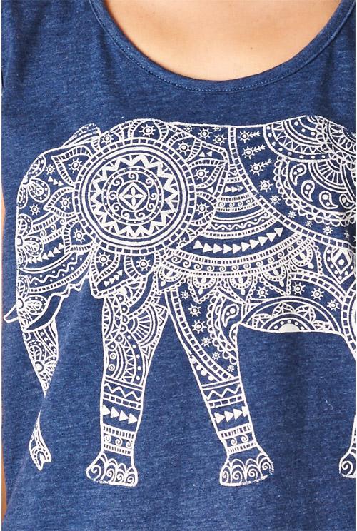 Tribal elephant tank — simply chic