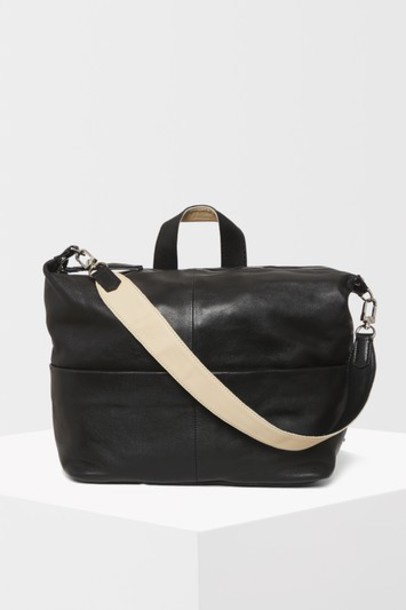 Topshop zip backpack leather black bag