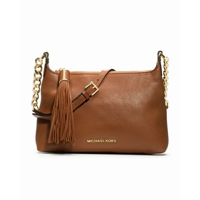 Luggage MICHAEL Michael Kors Small Weston Pebbled Messenger Bag