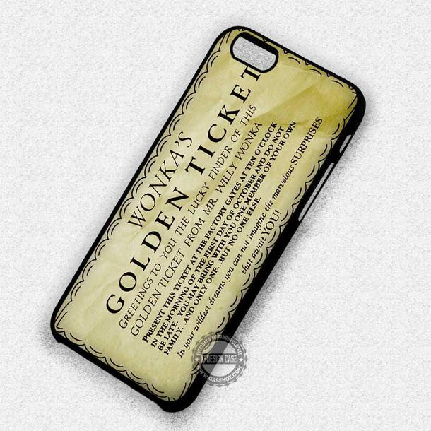 Phone Cover Movies Willy Wonka Bar Willy Wonka Golden