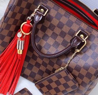 bag louis vuitton alma bb demier checkered tote bag handbag brown
