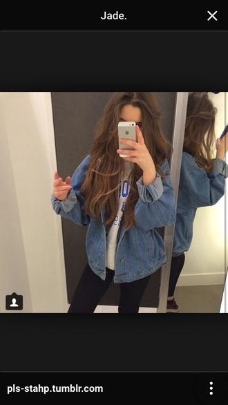jacket jeanjacket indiestyle pale grunge