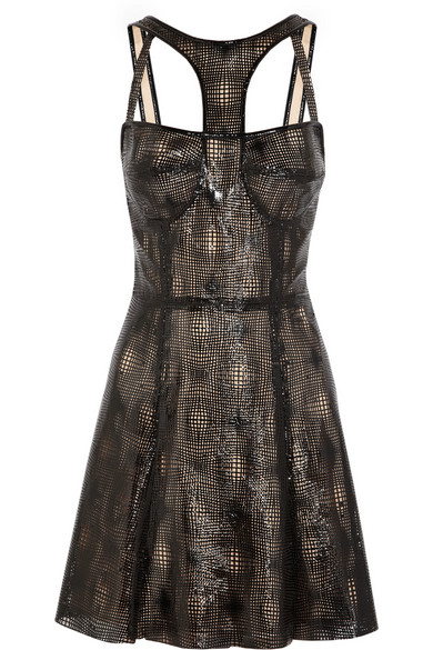 CAPITOL COUTURE BY TRISH SUMMERVILLE | Laser-cut patent-leather dress | NET-A-PORTER.COM