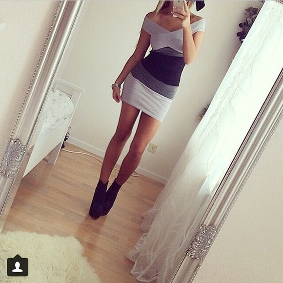 bandage dress greydress