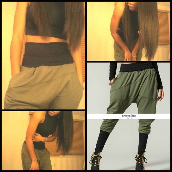 pants bottoms sexy tomboy/femme sweatpants clothes fashion fall outfits tumblr clothes tumblr girl tumblr comfy outfits harem pants harem olive green black tomboy fashion swag tumblr outfit bottoms army green cool perfecto girly harem sweatpants cool girl style comfy edgy style baggy pants cute tomboy hot pants comfortable comfortable sweatpants stylish style summer nights olive green army pants black bikini Easy outfits joggers sweats lovers + friends warmer thug life cute outfits comfortable clothes lovely pepa hopping