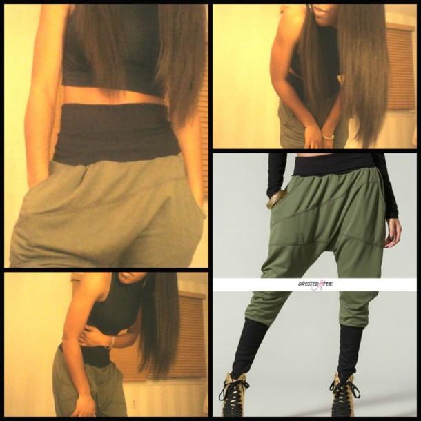 Pants bottoms joggers pants sexy tomboy/femme edgy baggy pants sweatpants cute tomboy ...