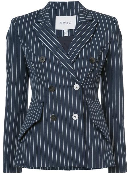 DEREK LAM 10 CROSBY blazer women cotton blue jacket