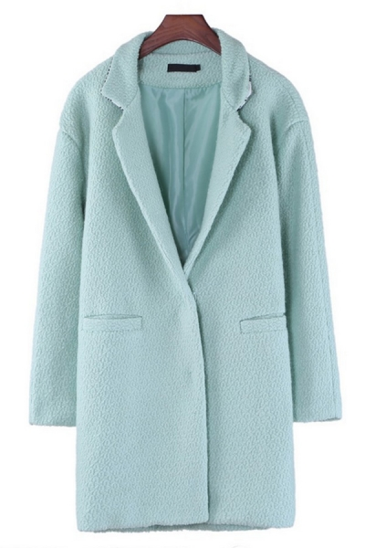 Mint Green Wool-blend Coat - OASAP.com
