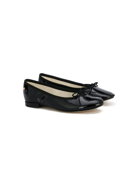 Repetto bow shoes leather cotton black