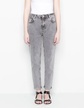 HIGH RISE STRAIGHT LEG JEANS - JEANS - WOMAN -  PULL&BEAR Portugal