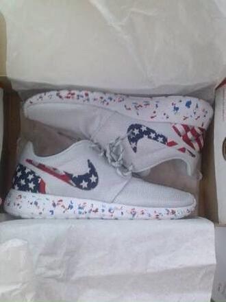 shoes roshe runs nike roshe run american flag red white blue