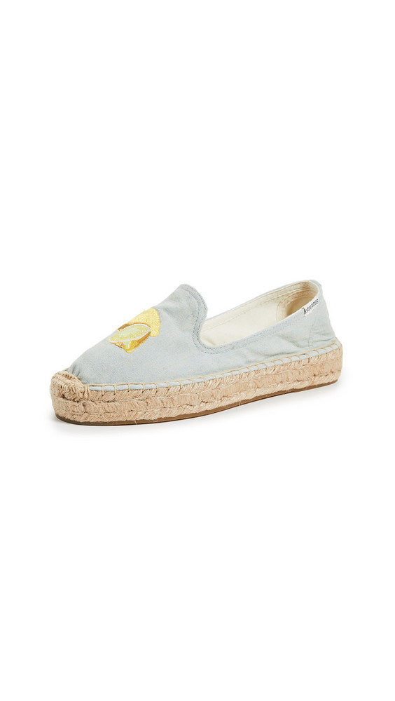 Soludos Lemons Smoking Slippers in chambray