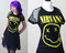 Custom nirvana black mesh skater dress