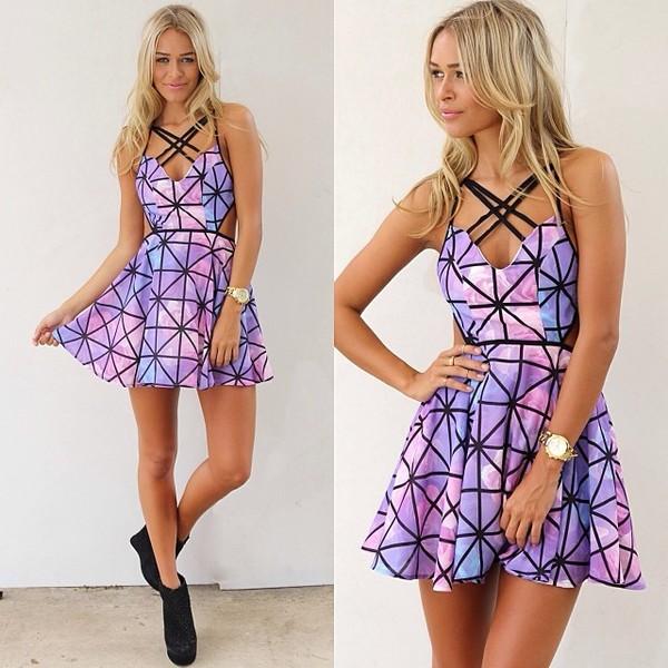 dress purple stripes purple dress