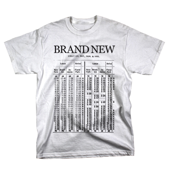 Brand New - Train on White - T-shirts - Official Merch - Powered by Merch Direct