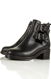 black shoes,biker boots,ankle boots,shoes