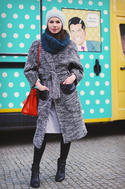 kapuczina blogger skirt shoes sweater jewels bag coat
