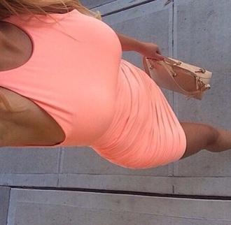 dress pink dress high-low dresses summer dress summer pink style pretty pink summer