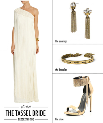 bklyn bride blogger jewels white skirt tube top white top bracelets necklace gold shoes