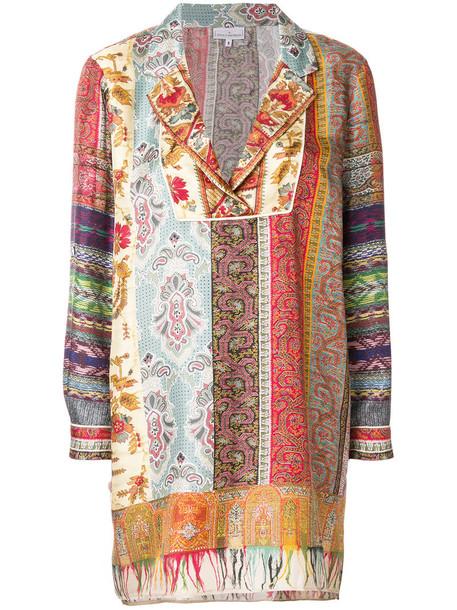 Pierre-Louis Mascia - embroidered shift blouse - women - Silk - XL, Silk